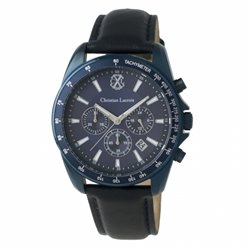 Hodinky s chronografem Textus Leather Grey